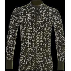 asics Lite-Show Maglietta corsa maniche lunghe Uomo marrone/verde oliva
